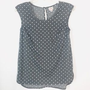 Merona grey sleeveless blouse with stars  XS